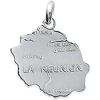 So Chic Bijoux © Pendentif Carte Ile de la Réunion Argent 925
