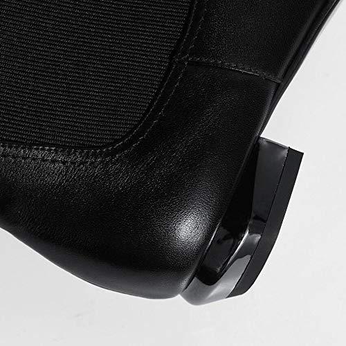 De Black Cara Gruesa Chelsea De De Botas Mujeres Doble Las Pies Bajo con Tacón Botas Mujer De Tamaño KUKI De Elástica Señaló Zapatos Conjunto Otoño Gran Zapatos Botas xqR8CpB