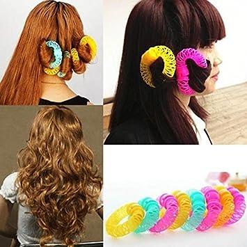 Himo Fashion 8pcs Magic rodillo rizador pelo espiral rizos Donuts Curl pelo estilo herramienta accesorios para el pelo: Amazon.es: Juguetes y juegos