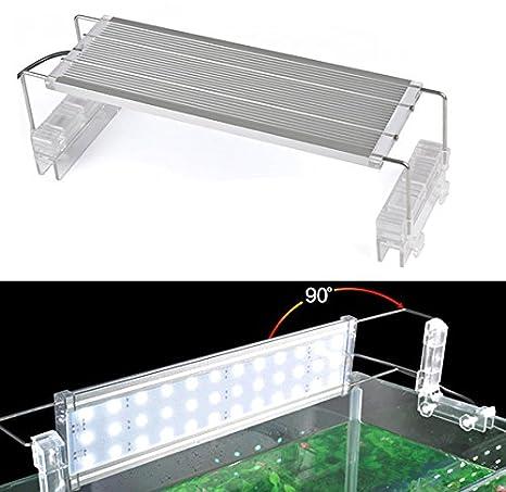 PANTALLA DE LUZ LED SUPERSLIM PARA ACUARIO 80-100CM LEDS BLANCOS: Amazon.es: Iluminación
