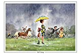 Soft Going Horse Racing greeting card with envelope by Norman Thelwell. Blank on the inside for any message