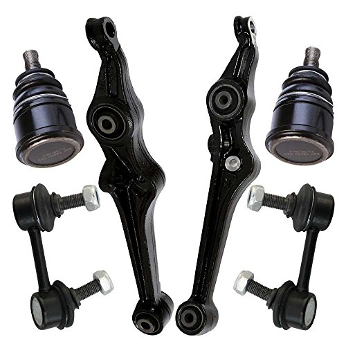 Prime Choice Auto Parts SUSPKG919 Set of 2 Lower Ball Joints 2 Lower Control Arms and 2 Sway Bar Links (Auto Parts Ball Joints)