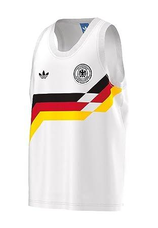 adidas Camiseta sin Mangas Germany Blanco 2XL: Amazon.es: Deportes y aire libre