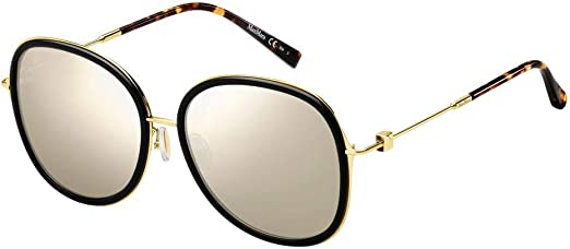 Sunglasses Max Mara Mm Marilyn Ifs 0807 Black T4 silver mirror lens