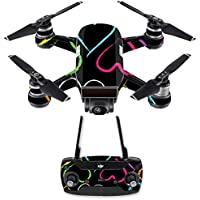 Skin for DJI Spark Mini Drone Combo - Hearts| MightySkins Protective, Durable, and Unique Vinyl Decal wrap cover | Easy To Apply, Remove, and Change Styles | Made in the USA