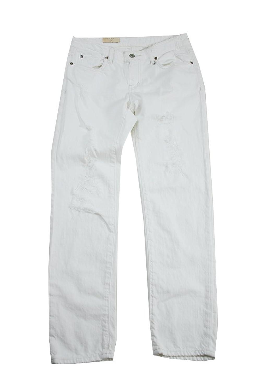 Denim & Supply Ralph Lauren Destructed Boyfriend Jeans White Size 26