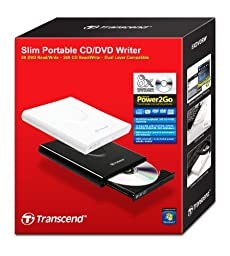 Transcend USB 2.0 8x DVD Writer External Optical Drive (White)