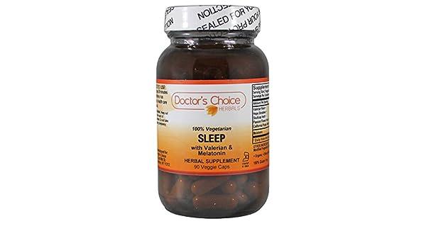 Amazon.com: Doctors Choice Organic Herbals Sleep with Valerian and Melatonin 90 Veggie Vegan Caps (Premium Quality-Glass Bottle): Health & Personal Care