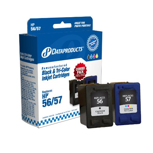 - Dataproducts DPC5657AN Remanufactured Ink Cartridge Replacement for HP #56/57 (Combo Pack - Black & Tri-Color)