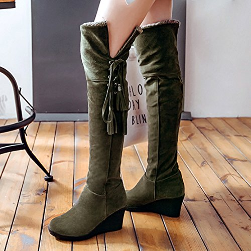 Stivali Donna Classici Verde Aiyoumei Aiyoumei Stivali ExHYqUwS