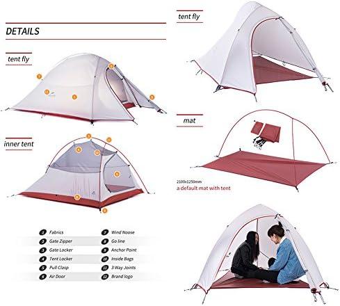 Naturehike 4 temporada impermeable cortavientos Camping tienda de campaña para 2 personas tienda de campaña ultraligero con suelo