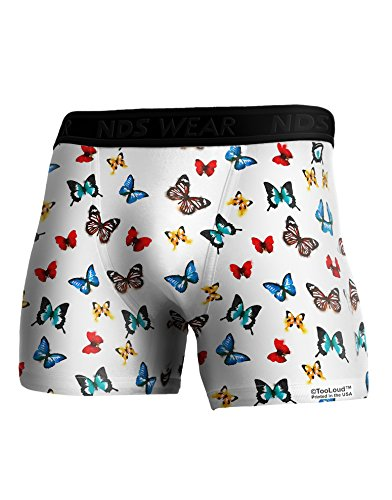 TooLoud Watercolor Butterflies AOP Boxer Brief Dual Sided Large All Over (Butterfly Print Boxers)