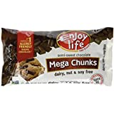 Enjoy Life Mega Chunks Gluten Free Non-GMO Semi-Sweet Chocolate -- 10 oz Each / Pack of 3