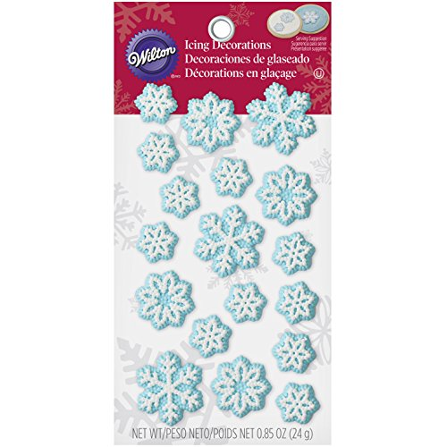 Wilton 2201-2005 Snowflake Icing Decoration - Snowflake Icing Decorations
