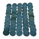50Pcs 2Inch Blue Fine Aluminium Oxide Roll Lock Surface Conditioning Discs