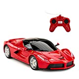 RASTAR 1:24 Scale RC Car, Ferrari LaFerrari Remote Control Car, Model Toy Car for Kids, Red