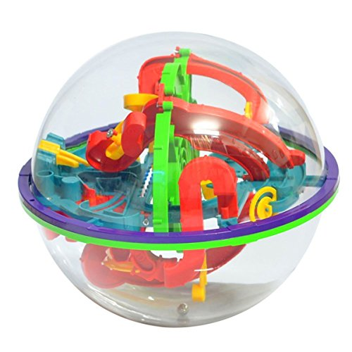 Ball Maze One (XIECCX Maze Ball Labyrinth Globe Toys 100 Challenging Barriers Best Gift Magic Puzzle Game Independent Play for Children 6 Years)