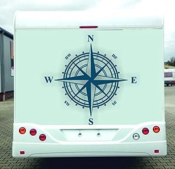 Windrose Aufkleber Für Wohnmobil Wohnwagen Usw Dunkel Blau