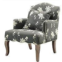 Linon Gray Floral Arm Chair