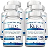 Approved Science® Keto: Pure Exogenous 4 Ketone Salts (Calcium, Sodium, Magnesium and Potassium) and MCT Oil to Boost Ketosis and Burn Fat. 6 Bottles