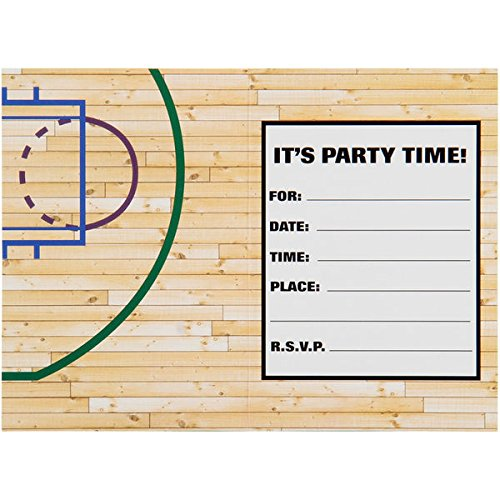 Sports-and-Tailgating-NBA-Party-Boston-Celtics-Invitation-and-Thank-You-Cards-Paper-3-x-5-Pack-of-16