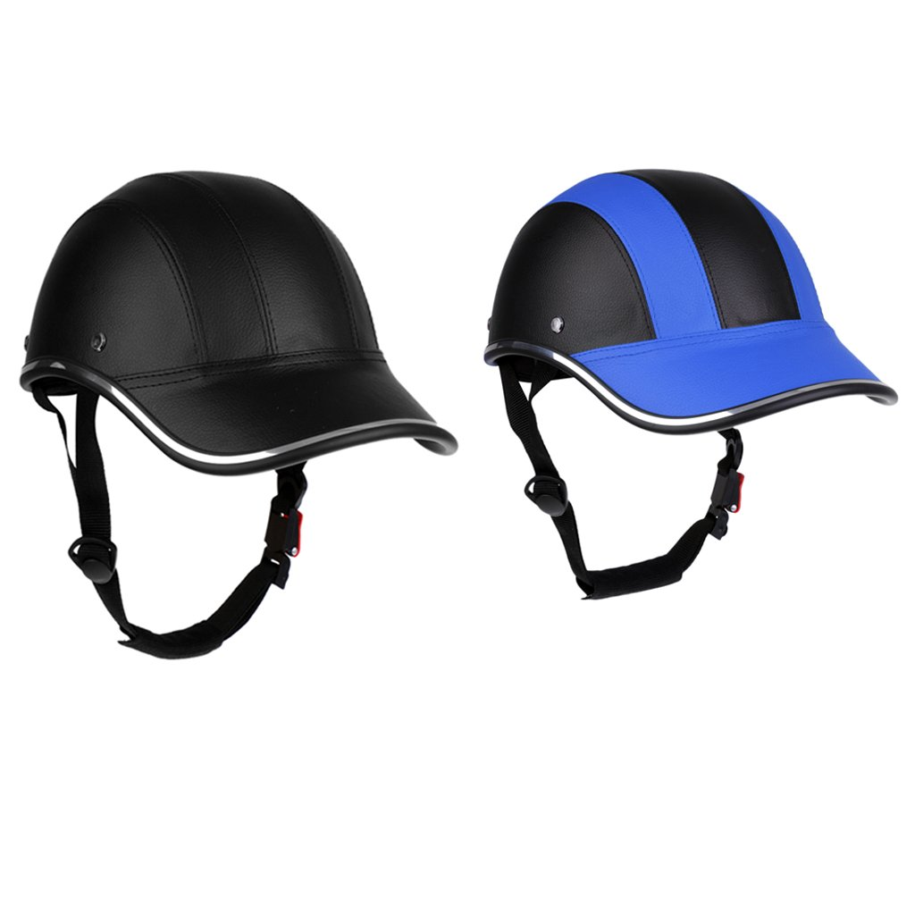 2Pcs Safety Motorcycle Helmet Horse Riding Protective Hat Soft Baseball Cap