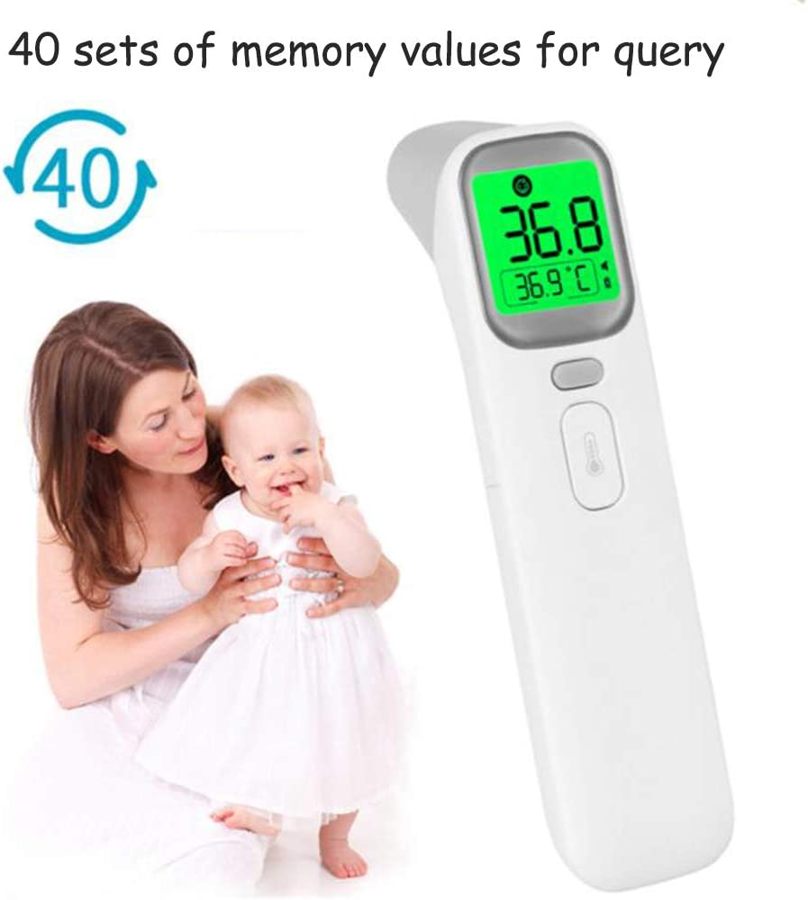 Ear and Forehead Thermometer Kid and Adult Digital Medical Alarm Infrared Sensor 4-Color LED Backlight Fever Display Childrens Contact Thermometer