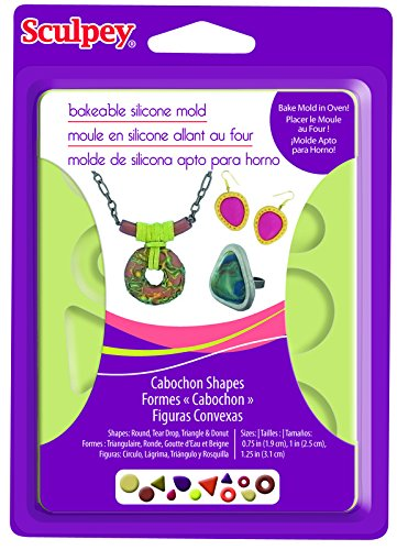 Sculpey APM81 Silicone Bakeable Mold-Cabochon Polyform Products APM8-81