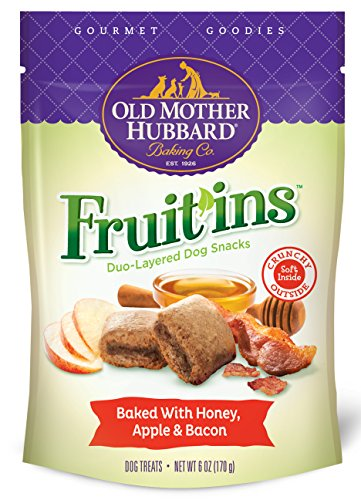 Duo Treat (Old Mother Hubbard Gourmet Goodies Fruit'ins Crunchy Natural Dog Treats, Honey, Apple & Bacon, 6-Ounce Bag)