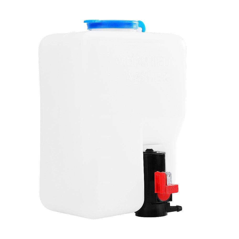 1.2LTR Universal Windscreen Washer Bottle Kit Windscreen Washer Tank Pump Bottle 12V for Classic Cars Boat Marine