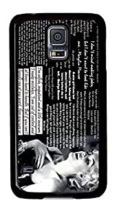 customized and diy marilyn monroe quotes for samsung galaxy s5 for office by jamescurryshop