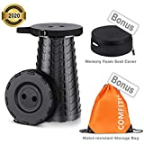 ComfiTime Folding Stool -2nd Gen Portable Foldable Stool for Indoor (Kitchen/Bathroom) and Outdoor (Camping/Fishing/Hiking/Travel/Garden) Use, Retractable/Collapsible Plastic Stool for Adults or Kids