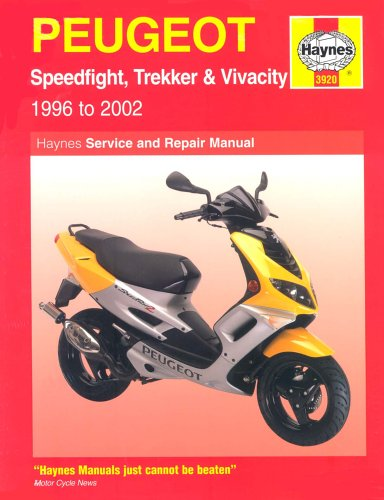 Peugeot Speedfight, Trekker and Vivacity Scooters Service an