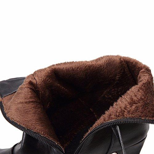 alto zapatos los color el tacón Black El de y botas de de invierno tamaño de botas otoño q1cvzwO