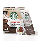 Starbucks Peppermint Mocha Caffe Latte Medium Roast Single-Cup Coffee for Keurig Brewers, 4 Boxes of 6 (24 total K-Cup pods)