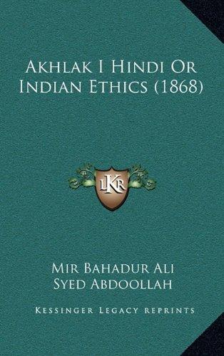 Download Akhlak I Hindi Or Indian Ethics (1868) pdf epub