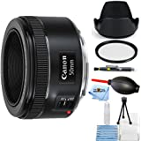 Canon EF 50mm f/1.8 STM Lens #0570C002 [International Version] (Starter Bundle)