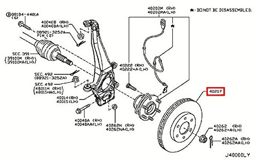 Infiniti 40206-1LA2A, Disc Brake Rotor for sale  Delivered anywhere in USA