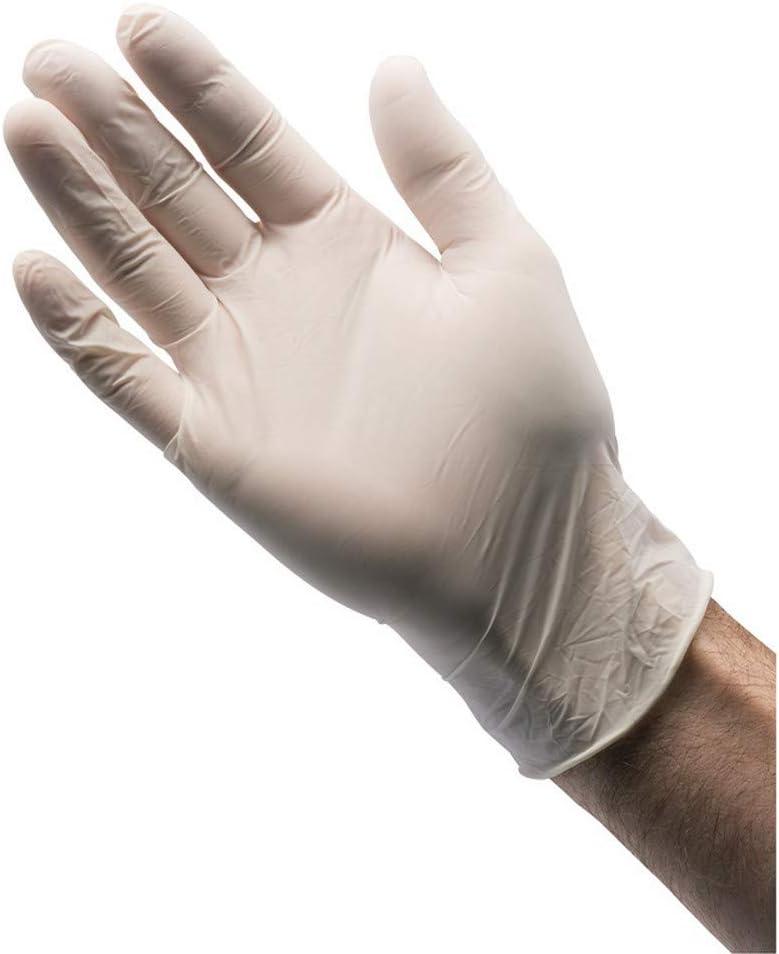 10/unidades Draper glat-10l guantes de l/átex color azul