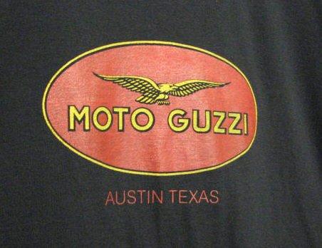AF1 Racing T-Shirt Moto Guzzi, Austin Texas MEDIUM
