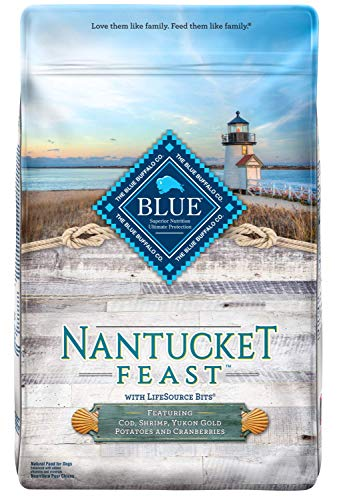 Blue Buffalo Blue Nantucket Feast Natural Adult Dry Dog Food With Wild Caught Cod (1 Count), 22 Lb Review