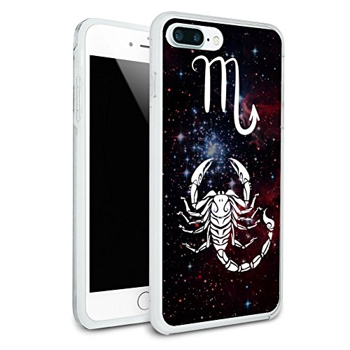 (Scorpio Scorpion Zodiac Sign Horoscope in Space Protective Slim Fit Hybrid Rubber Bumper Case for Apple iPhone 7 Plus)