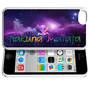 Africa Ancient Proverb HAKUNA MATATA Color Accelerating Universe Star Design Pattern HD Durable Hard Plastic Case Cover for iphone 4/4s iphone 4/4s