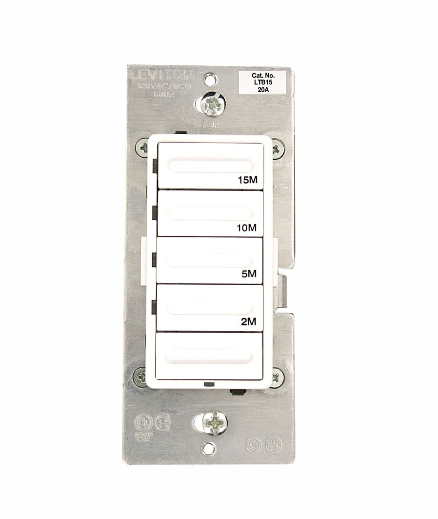 leviton ltb60 1lz decora 1800w incandescent 20a resistive leviton ltb60 1lz decora 1800w incandescent 20a resistive inductive 1hp preset 10 20 30 60 minute countdown timer switch white ivory light almond