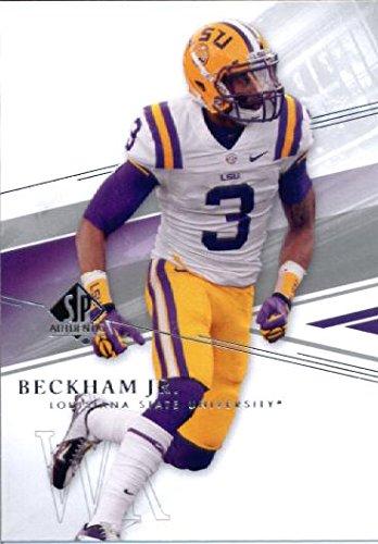 29 Football Card (2014 Upper Deck SP Authentic Football Rookie Card # 29 Odell Beckham Jr.)