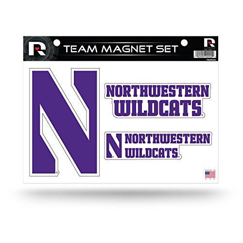 Rico Industries NCAA Northwestern Wildcats Die Cut Team Magnet Set Sheet