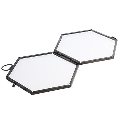 Amazon.com - Jili Online Antique Hexagon Metal & Glass Hanging ...