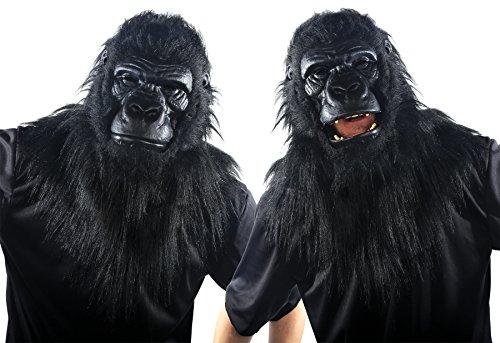 Animated Animal Gorilla Plastic Face Mask -