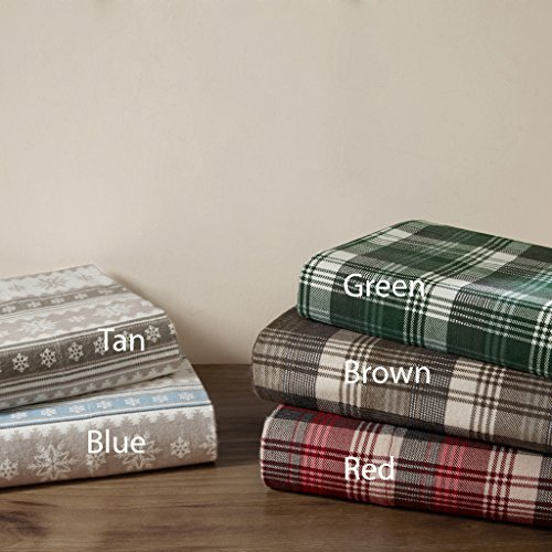 queen plaid flannel sheets - 6