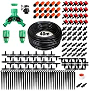 Drip Irrigation Kit, 132ft/40M Garden Drip Irrigation System, 158PCS Adjustable Automatic Micro Irrigation Kit
